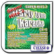 PARTY TYME KARAOKE CD CDG CD+G DISC BACKING TRACKS SUPER HITS 2 POP MUSIC