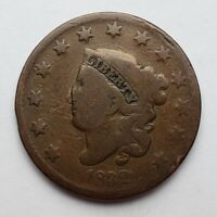 1832 Coronet / Matron Head Large Cent Scratched Good