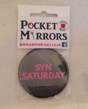 ** NEW ~ Round Pocket Compact Mirror ~ SYN Saturday **