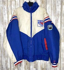 Mens Vintage 90'S Pro Player New York Rangers Jacket Size XL