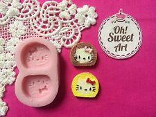 Hello Kitty Toast Silicone Mold Food Safe Cake Decoration Candy Cupcake (FDA)
