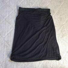 T by Alexander Wang Twist Bodycon Slim Mini Skirt Black S Small