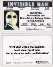 Jack Griffin the Invisible Man Claude Raines collectors card Drivers License