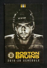 Boston Bruins--Patrice Bergeron--2019-20 Pocket Schedule--NESN/Xfinity