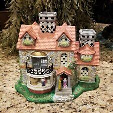 Partylite Olde World Village Porcelain Victorian Cottage Tealight Candle Holder