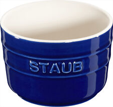 Dust Ceramic 6er Set XS Mini Cup Ramekin Dessert Bowl Round Dark Blue 8 C