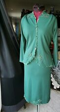 Antique 30's/40's Imported 2 Piece Suit True Vintage Secretary Green Skirt Suit