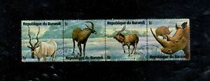 BURUNDI #479 1975 ANIMALS MINT VF LH O.G S/4 b