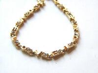Vintage LOVE gold tone rhinestone Bracelet
