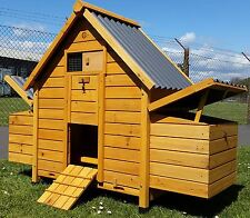 CHICKEN COOP RUN HEN HOUSE POULTRY ARK HOME NEST BOX COOPS ECO HUTCH PLASTIC