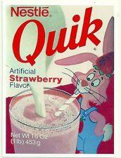 NESTLÉ QUICK Strawberry Flavor   Retro Vintage HQ FRIDGE MAGNET *02