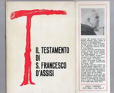 il testamento di san francesco d assisi - kaietan esser o.f.m.