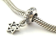 Authentic Pandora Star Of David 925 Silver Dangle Bead Charm 791167CZ New