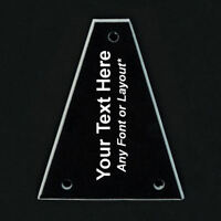 GUITAR TRUSS ROD COVER Custom Engraved - For JACKSON - PERSONALIZED TEXT Black