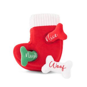 Christmas Stocking Dog Burrow Toy   Dog Accessories   Dog Gifts   Plush Dog Toy