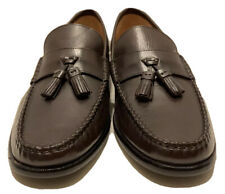 Men's Florsheim Black Leather Slip On Tassel Loafer Dress Shoes Size 8 D