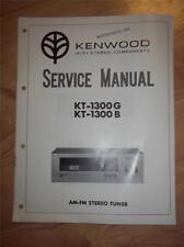 Kenwood Service Manual~KT-1300G/KT-1300B Tuner~Original Repair