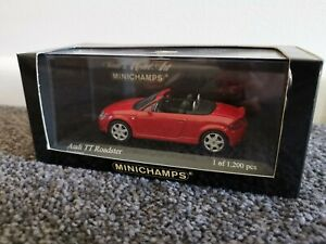 Minichamps Audi TT Roadster 1:43 Red Amulettroy Limited Edition 1/1200