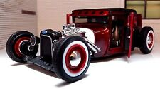 1:24 Scale Red Black 1929 Ford Model A Low Rider Hot Rod Custom Diecast Model