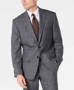 Michael Kors Airsoft Stretch Plaid Suit Jacket MSRP $450 Size 44S # 5D 1732 NEW