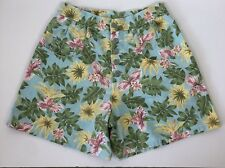 Vintage Steel Jeans Juniors 9 High Waisted Shorts Palm Tree Tropical Mom Button