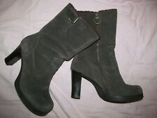 CANDIE'S Boots women's 9 Vtg 2000 Brown Suede leather fully lined platform boots