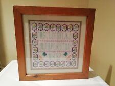 An Alphabet Cross Stitch Sampler