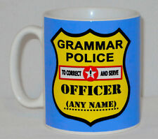 Grammar Police Mug Can Be Personalised Any Name Funny Gift English Teacher Tutor