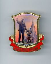 Tokyo Disneyland Disney Tour Guide Walt & Mickey Mouse Partners Red Cast Pin