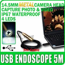 Endoscopio USB Boroscopio Inspección de metal cámara 5M/16 Ft Cable