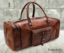 Grande marrone in pelle fatto a mano ZAINETTO SACCHE PALESTRA VIAGGI WEEKEND BAG RRP £ 105