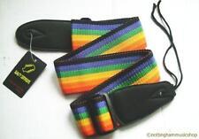 Chitarra acustica elettrica o cinturino NUOVE 112K Rainbow Stripe nylon larghezza 50MM
