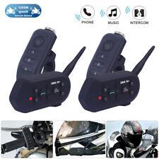 2x 1200m Motorrad Helm Gegensprechanlage Bluetooth Gegensprechanlage Headset