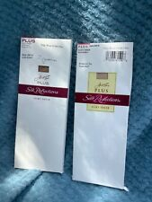 Hanes Plus Silk Reflections Knee Highs, Enhanced Toe, New, 2 boxes,4 pairs total