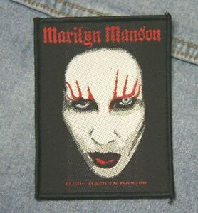 Marilyn Manson sew  on patch retro Official merchandise