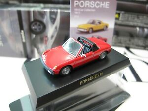 Kyosho - PORSCHE Collection 3 - 914 - RED - 1/64 - Mini Toy Car - A20