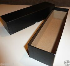 "2 Black Coin Storage Boxes-Single Row (9""x2""x2"") for 2x2s U-DO-ITS Flips, Mylar"