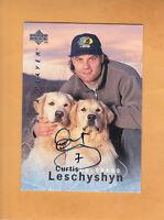 1995 96 BE A PLAYER CURTIS LESCHYSHYN AUTO #S129 COLORADO AVALANCHE
