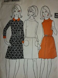 VINTAGE 1970'S STYLE WOMAN EASY MOD DRESSES SEWING PATTERN