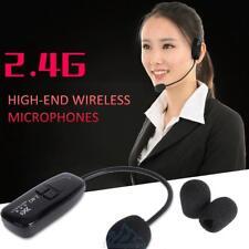 2.4G Wireless Mikrofon Headset Sprachkopfhörer Megaphon-Radio Mic Lautsprecher