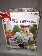 Bell Mini Shell Front Child Carrier, Bike Seat, Green, 33lbs Max, Age 1-4 years