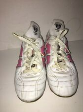 Ludas Temparo/Mitre-Control The Game-SIZE 7.5 US Women's White/Pink Soccer Shoes