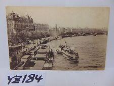 VINTAGE POSTED POSTCARD STAMP 1910'S LONDON ENGLAND UK RIVER THAMES SCENE OLD