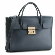NWT Furla Metropolis Satchel M Bag Grey 978151