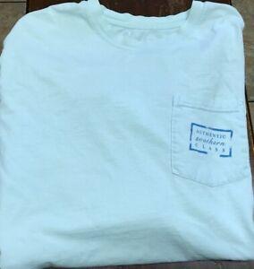 Southern Marsh L/S pocket t-shirt size M light blue