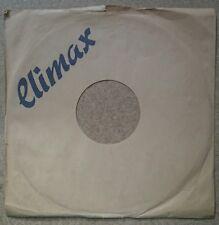 """4 original """"CLIMAX"""" 10"""" 78rpm Firmenlochcover / sleeve für Schellackplatten"""