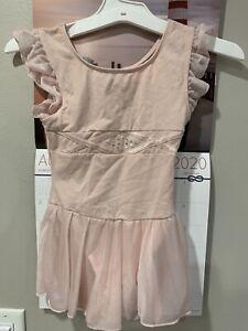 Freestyle Danskins Girls Size Small 6/6 X Pink Ballet Leotard Short Sleeve