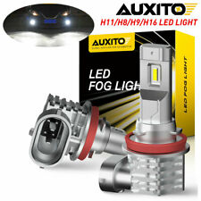 2X AUXITO H11 H8 H9 Fog Light 100W White 6500K DRL Bulb LED Driving Lamp 4000LM