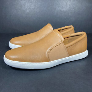 Fitflop Collins Mens Slip On Brown Leather Loafers Shoes Casual Summer UK 9 NEW