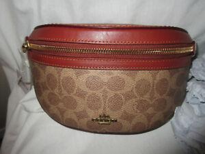 New Coach Tan Rust Signature Belt Bag  /  Fanny Pack - 39937